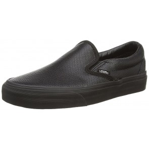 Vans Classic Slip-on Scarpe da Ginnastica Basse, Unisex Adulto, Nero (perf leather black/black), 39