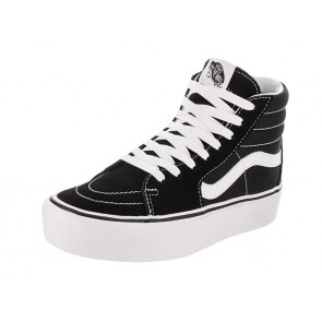 Vans Donna Nero/True Bianco SK8-Hi Platform Sneaker-UK 5