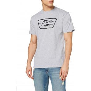 Vans Full Patch T-Shirt, Grigio (Athletic Heather/Black Atj), Large Uomo