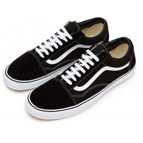 Vans Old Skool Leather Sneaker Unisex Adulto, Nero (Black/White), 41