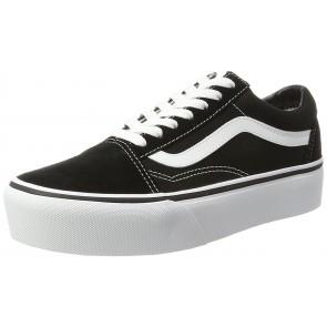 Vans Old Skool Platform, Sneaker Donna, Nero (Black/White Y28), 38 EU