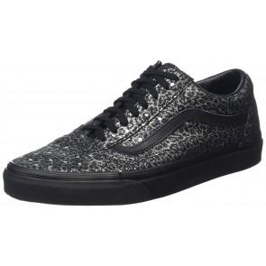 Vans Old Skool Scarpe da skater, Basse, Unisex, Adulto, Nero (Metallic Leopard Black/Black), 36