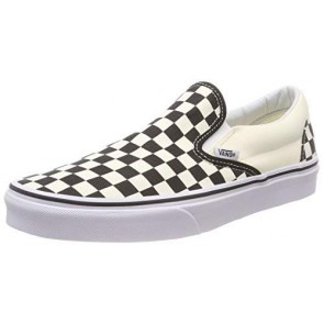 Vans U Classic Slip-on, Sneaker Unisex Adulto, Bianco (Black/White/Checker White), 38