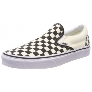 Vans U Classic Slip-on, Sneaker Unisex - Adulto, Bianco (Black/White/Checker White), 44