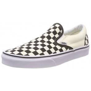 Vans U Classic Slip-on, Sneaker Unisex - Adulto, Bianco (Black/White/Checker White), 44