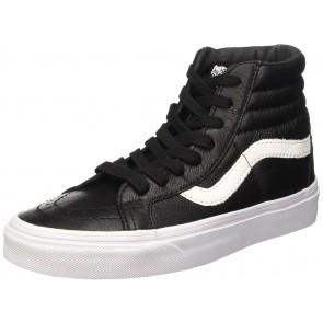Vans U Sk8-Hi Reissue Leather, Sneaker Unisex Adulto, Nero (Premium Leather/Black), 45 Eu