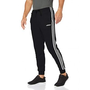 adidas Essentials 3 Stripes Tapered Pant French Terr, Pants Uomo, Black/White, L
