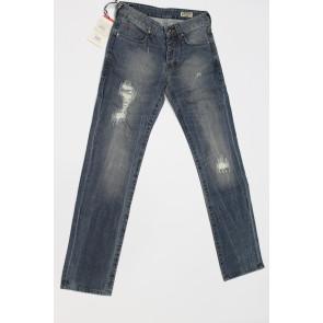 Jeans pantalone uomo rifle 90002-BZ578 blu denim con strappi tg 32 (46) chiusura bottoni