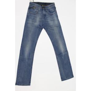 Jeans pantalone uomo Meltin POT MANUEL D1021UK441 blu denim elasticizzato, tg 28 (42) chiusura bottoni