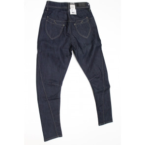 Jeans pantalone donna Meltin POT MIAMBI D1289RW007 blu denim scuro elasticizzato, tg 28 (42) chiusura zip