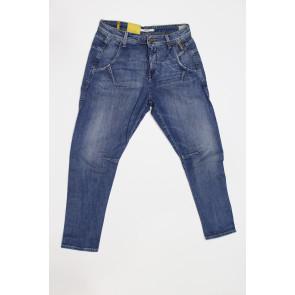 Jeans pantalone donna Meltin POT MIAMBI D1239UK418 blu denim chiaro elasticizzato, tg 29 (43) chiusura zip