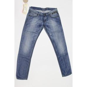 Jeans pantalone donna Construction Zero DIMEE SW610 1322 blu denim chiaro,elasticizzato, tg 33 (47) chiusura zip