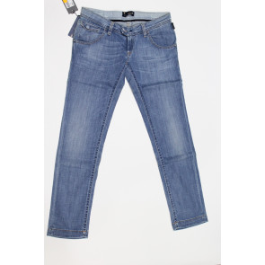 Jeans pantalone donna Meltin POT MONIQUE D1520UK481 blu denim chiaro elasticizzato, tg 32 (46) chiusura zip