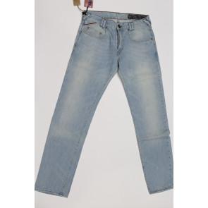 Jeans pantalone uomo rifle 90771-61ZRE blu denim chiaro,elasticizzato tg 33 chiusura zip