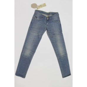 Jeans pantalone donna Construction Zero ANNEL/S SSW311 2440 blu denim chiaro,elasticizzato, tg 26 (40) chiusura zip