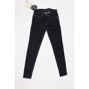 Jeans pantalone donna Construction Zero MOREA LN001 2471 blu denim scuro, elasticizzato, tg 33 (47) chiusura zip