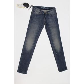 Jeans pantalone donna Construction Zero SAMELY SW611 2476 blu denim, elasticizzato, tg 27 (41) chiusura zip