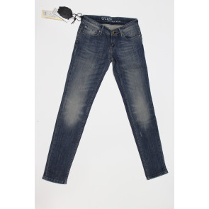 Jeans pantalone donna Construction Zero SAMELY SW611 2476 blu denim, elasticizzato, tg 29 (43) chiusura zip