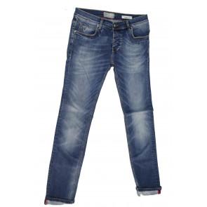 Fifty Four Jeans uomo Haiti J895 tg 40/54 blu denim stone washed