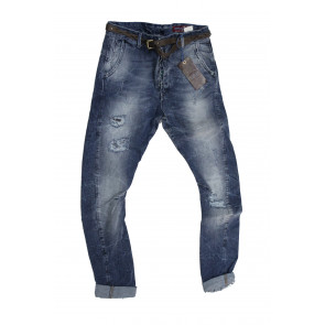 Displaj Jeans uomo Mod Alfred tg 48 blu denim stone washed leggermente elasticizzato