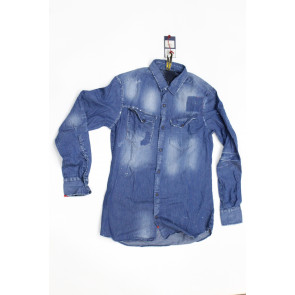 Displaj camicia uomo Mod Park 2407 tg XXL Blu Denim