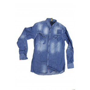 Displaj camicia uomo Mod Park 2407 tg L Blu Denim