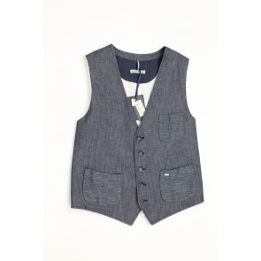 Double Eight Gilet uomo mod Vamp8 JE29 tg 48 Blu