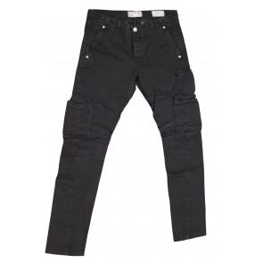 FIFTY FOUR pantalone uomo elasticizzato art Manik 00 C021 tg 32/46 Nero