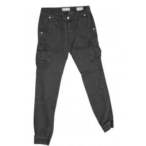 FIFTY FOUR pantalone uomo elasticizzato art Faruk 00 G523 tg 34/48 Nero