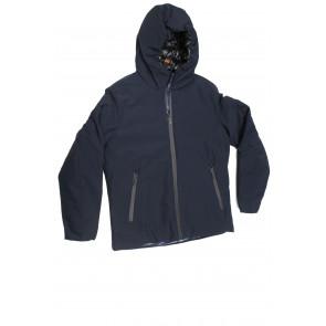 TREZ Giubbotto uomo tessuto tecnico con cappuccio mod Giacob-1001 tg M Blu