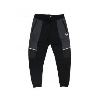 Sergio Tacchini pantalone uomo tasche con zip art 38284 tg XL Nero Grigio